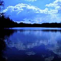 cloud by lake (limerickdoyle) Tags: blue ireland sky cloud lake water landscape limerick countyclare cratloe efs1785mm mywinners canon400d