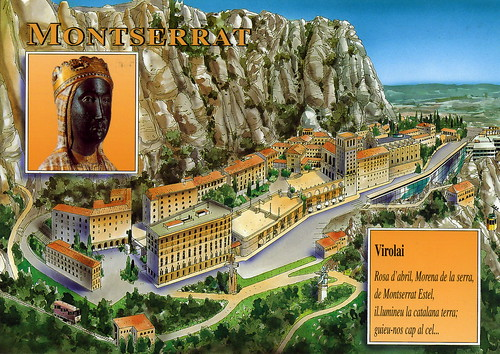 Montserrat Monastery Map Card (3 Cards For Trade)   a photo on
