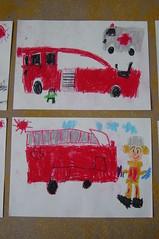 消防車の絵