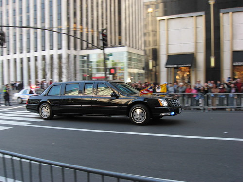 Pope Benedict XVI: The limousine that carries the Pope (on the way to St Patrick's Cathedral)