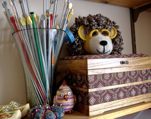 lion head on sewing box and more
