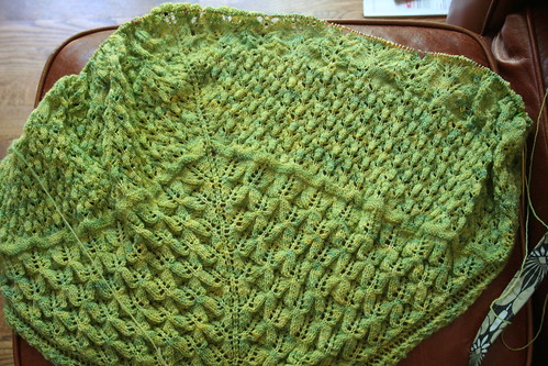 Bee shawl - final phase