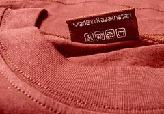 made in Kazakhstan (AgusValenz) Tags: red macro rojo tshirt soviet centralasia kazakhstan camiseta eurasia madein   labelproject