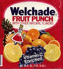 Welchade Fruit Punch label