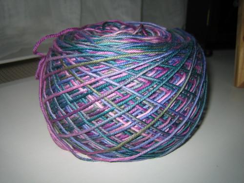 peaseblossom yarn cake
