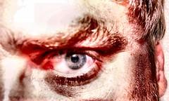 Bad mood! (dynamosquito) Tags: red portrait selfportrait color eye self rouge autoportrait evil anger oeil couleur mephistopheles badmood colre diabolique mauvaisehumeur misterhyde abigfave panasoniclumixdmcfz50 dynamosquito badakhlar