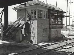 Signal Box - Wickham (State Records NSW) Tags: blackandwhite newcastle geotagged railwaystation archives newsouthwales hunter regional signalbox railwaytracks wickham staterecordsnsw geo:lon=329248 geo:lat=1517609