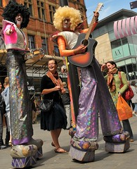 Rock Stars of Liverpool Culture (Parkgate Pete) Tags: street liverpool circus streetphotography clowns stilts merseyside streettheatre d300 capitalofculture liverpoolecho streetdrama capitalofculture2008 liverpoolcapitalofculture2008 liverpoolone liverpoolcapitalofculture nikond300 beatlescity
