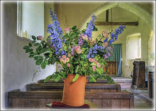 Upwaltham Church flowers
