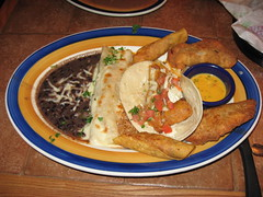 On The Border: 4 combos - chicken flauta, beef empanada, fish taco, chicken enchilada