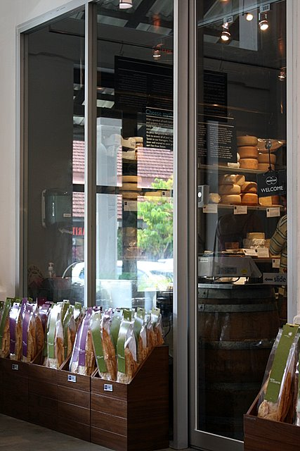 The trademark walk-in cheese room