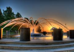 Lit Fountain (Robert Donovan) Tags: sunrise nikon southcarolina charleston hdr 18200mm robertdonovan robertcdonovan httprobertdonovanphotographycom httptwittercomrobertdonovan