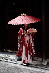 travel / culture / umbrella / kyoto / geisha (momoyama) Tags:   umbrella travel red rain maiko kyoto kimono japanese japan geisha geiko takahina beauty beautiful culture  traditional gion ef 85mm f18 rainyseason asia asian people girl