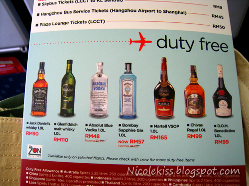 duty free booze on airasia X