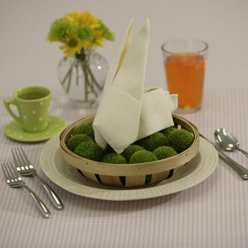 Napkin Origami Bunny
