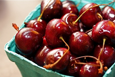 farmer's market cherries