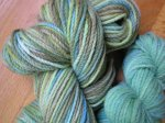 Mossy Glen on 2 ply Targhee - 4 oz + 1.4 oz trim - slight second