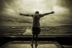 Frank (jeridaking) Tags: spread arms boy kid plaza stage waves storm weather stormy gloomy clouds dark horizon ormoc bay leyte sky philippines visayas jeridaking ralph matres fortheloveofphotography wind chill break frank tropical bad cebuphotographyclub asia southeastasia ormocanon ormocphotographer leytephotographer bisaya bisdak