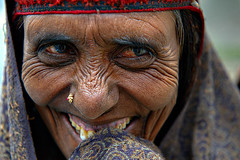 A Bakarwal Lady ( Poras Chaudhary) Tags: portrait india smile closeup lady laughing big eyes nikon shepherd pass expressions srinagar moment tribe f8 nomads nomadic 2470mm zojila bakarwal bakharwal
