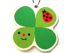 decole clover air freshener (Peachypan) Tags: cute car smiling japan japanese kawaii clover import happyface scent airfreshener decole peachypan decolello