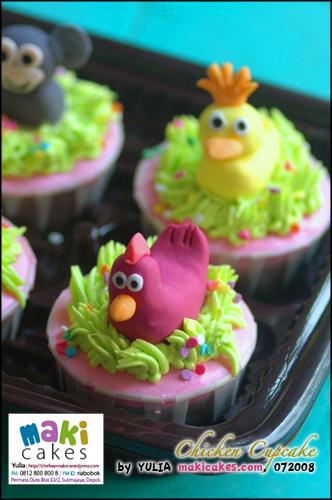 Chicken Cupcake - Maki Cakes