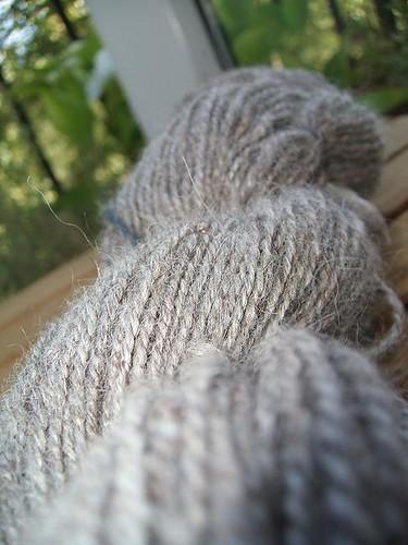 Grey alpaca handspun