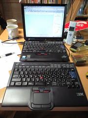 ダブルキーボードのThinkPad X31