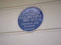 Photo of Charles Wheatstone blue plaque