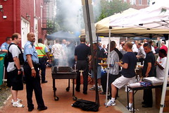 Neighbors and police in Washington DC enjoyed their neighborhoods National Night Out in 2008. Photo by DC9T.