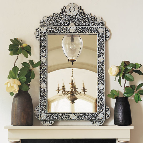 bone and mother of pearl mirrors