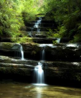 Terrace Falls, Hazelbrook. NSW.