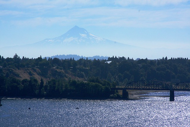 Mt. Hood from St. Johns Bridge