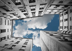 T... :-) (*bratan*) Tags: windows sky paris france building architecture clouds nikon perspective vertigo hdr immeuble fenetres firstquality photomatix sigma1020 photographia d80 bratanesque