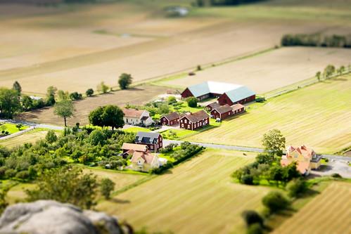 フリー画像| 人工風景| 建造物/建築物| 家/ハウス| ティルト・シフト|  スウェーデン風景|      フリー素材|