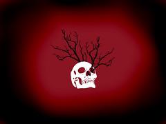 Skull Tree (bvonderau) Tags: red white black cold tree eye art contrast de dead happy death skull see los cool blood focus missing solitude day alone sad hole empty duo teeth perspective dia ethics burn fate end lone muertos fade through 5000 lying tubular raven solitary vector tone lonly booyah phantoms lonley daeth phantoms5000 ravenduo