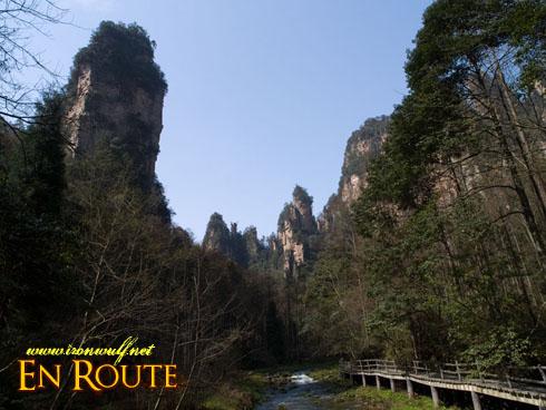 wulingyuan river and Side bridges