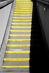 go yellow (Wollbinho) Tags: city shadow bw yellow stairs germany deutschland stair treppe gelb stadt sw schatten mannheim upward downward badenwrttemberg treppenstufen aufwrts kurpfalz abwrts wollbinho thomaswollbeck mannheimat madewithloveinmannheim