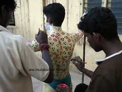 Making of the Tiger (Aithal's) Tags: dance tiger bodypainting tradition pili mangalore huli murali traditionaldance vesha indianfestival canons3 hulivesha aithal pilivesha tigerdance mangaloretigers aithals mangaloretiger mangalorehuli mangalorepili mangalorespecial makingofthetiger pilipainting paintingtiger dancetiger paintingmangaloredasara specialdasaramangalore dasaramaking bodypaintingtiger tigerbodypainting humanbodypainting mangalorefestival bodypaintedtiger