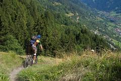 Verbier Self-Portrait 2 (Clive Andrews) Tags: trees portrait mountain mountains alps me grass bike self trek cycling switzerland bikes valley mountainbiking clive verbier singletrack bontrager img4934