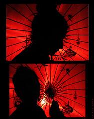 2SOMBRILLAS (RominikaH) Tags: red contraluz japanese rojo geisha sombrilla japones rominikah