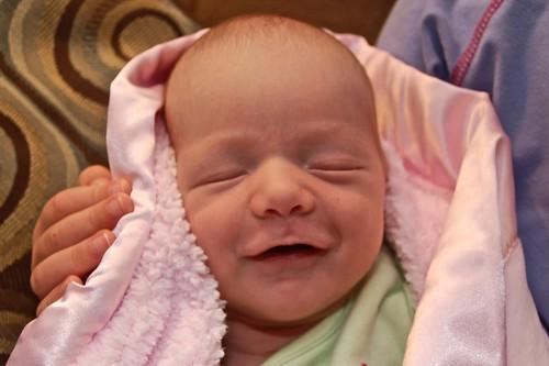 Isabelle smiling