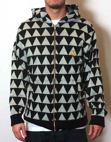 Kiks Tyo Wool Triangle Full-Zip Hoodie