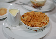 Pear Crumble & Custard