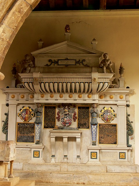 Wall monument to member of the Knightley family