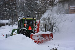 Rescued by the Plow (Starlisa) Tags: snow tractor john sister plow deere rescued dec20 whitesalmon ourdriveway saywa experiencewa img3729 starlisa