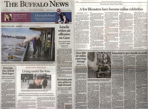 Buffalo News: Living Under the Lens (12.29.08)