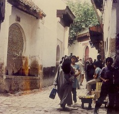 The market in Fes, Morocco, 1974 (rustyproof) Tags: shop 1974 market morocco shops souk medina 1970s fes