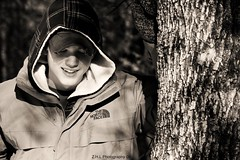 looking down (Z.H.L Photography) Tags: winter boy dog snow hot cute guy smile hat hoodie eyes woods pretty brother coat dude trail guiness fleece handsom