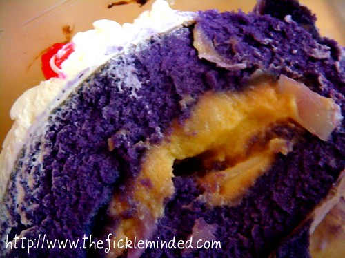 Ube Macapuno with Leche Flan Filling