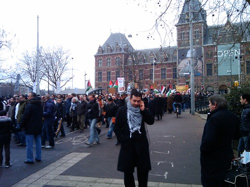 Anti-Israel Protest March in Amsterdam